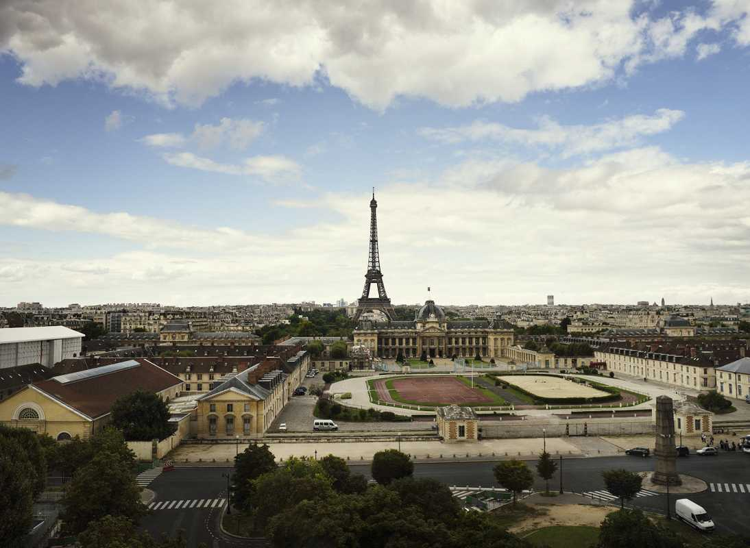 View from seventh floor to Eiffel Tower