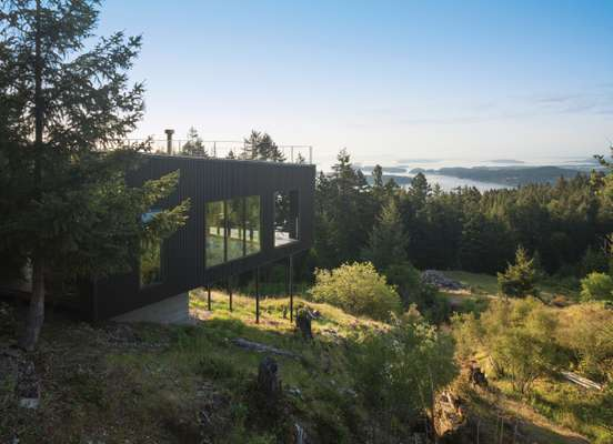 Landscape architect Nancy Krieg's home was built with its surroundings in mind