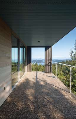 Home of architect Nancy Krieg, which overlooks Puget Sound and was built by Todd Saunders