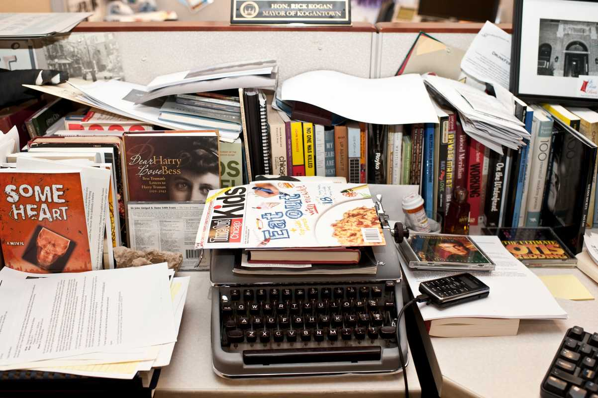 Kogan's typewriter on his desk at the 'Chicago Tribune'