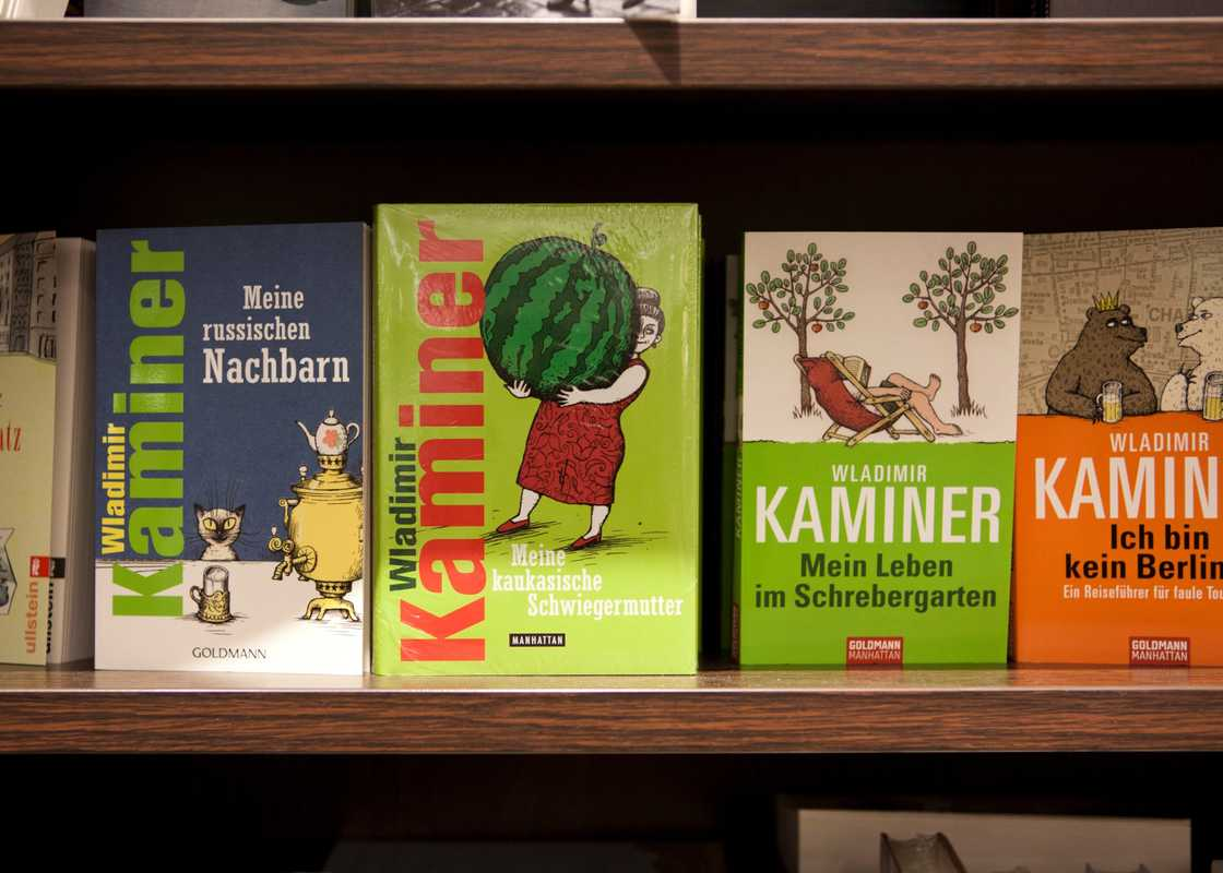 Kaminer's books in a Berlin bookstore