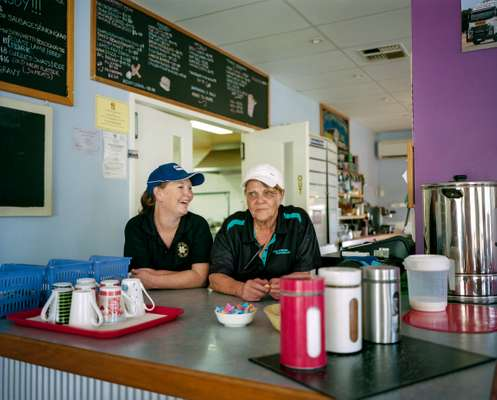 Members of the Chittering roadhouse's all-female staff