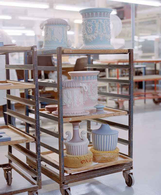 Borghese vases during production