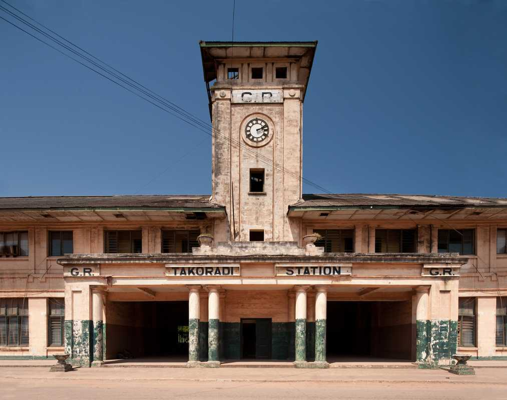 The disused Takoradi Train Station