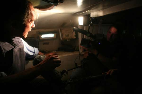 Reporting from inside a Russian armoured personnel carrier