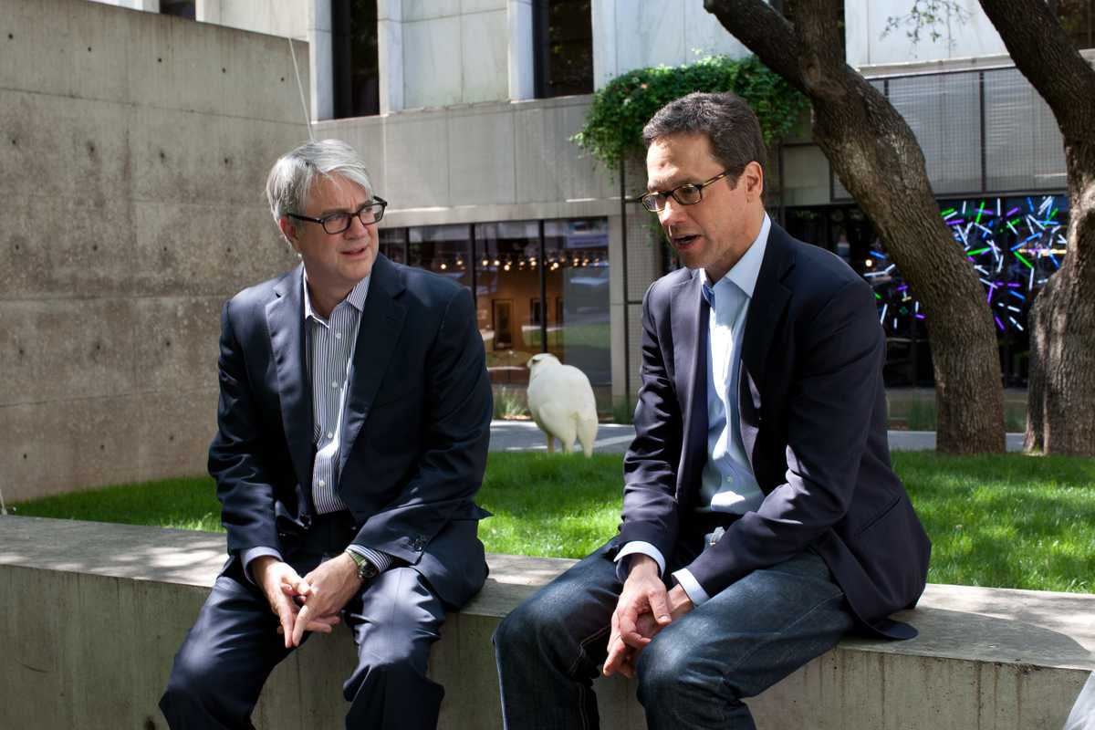 Dallas Art Fair founders, John Sughrue (left) and Chris Byrne