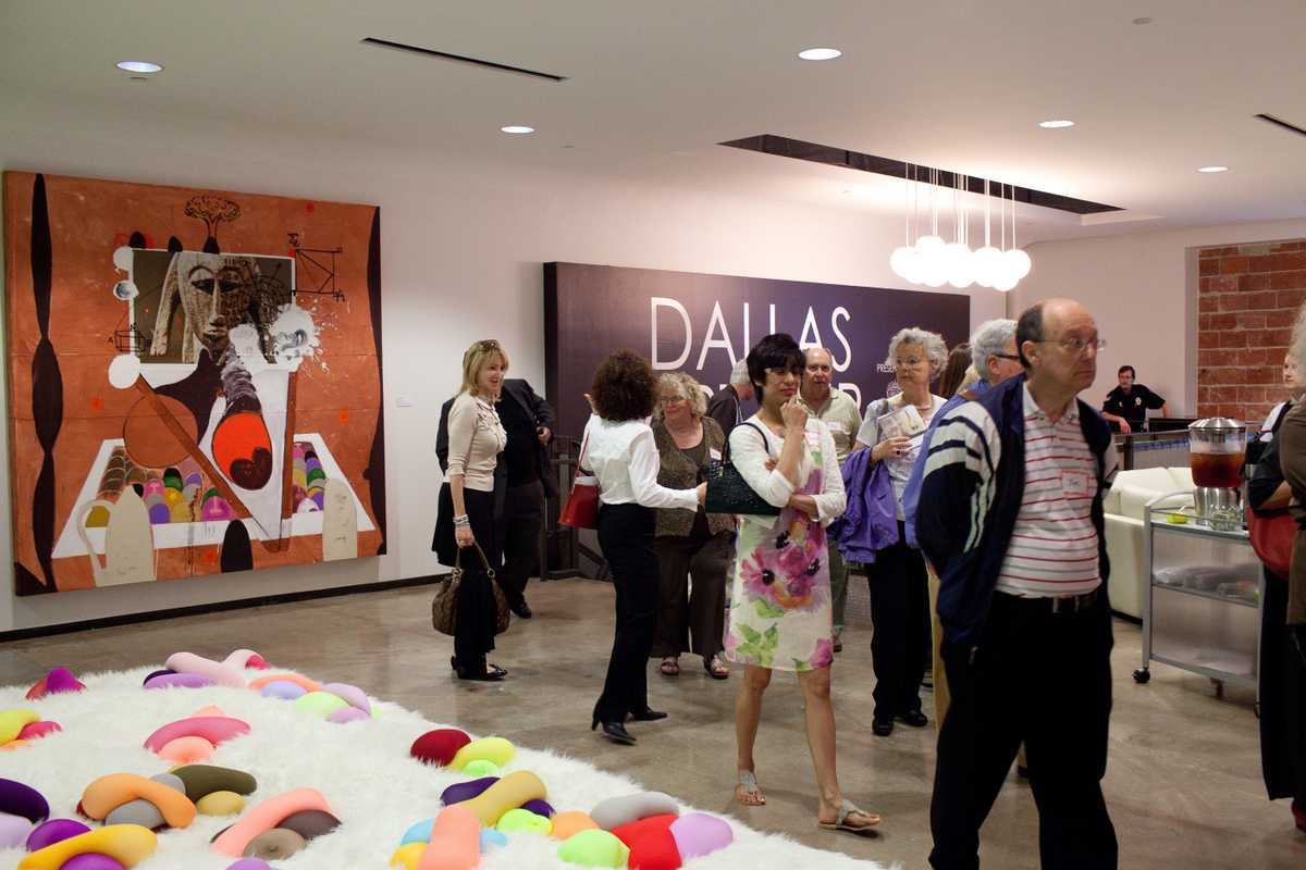 Potential collectors scour the Dallas Art Fair