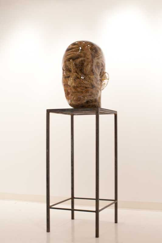Richard Dupont's 'Hemp Head' at  Vladimir Restoin Roitfeld's booth