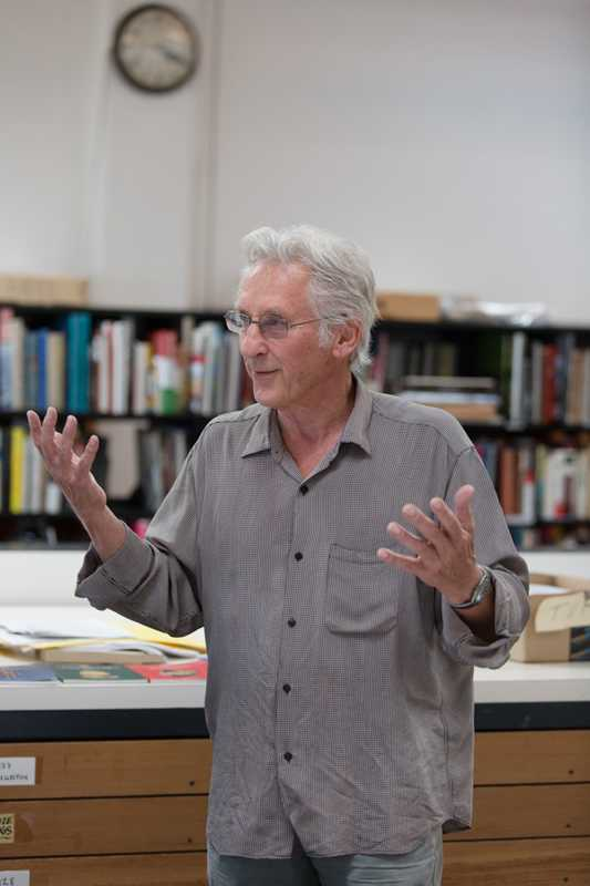 Ruscha in his Culver City studio