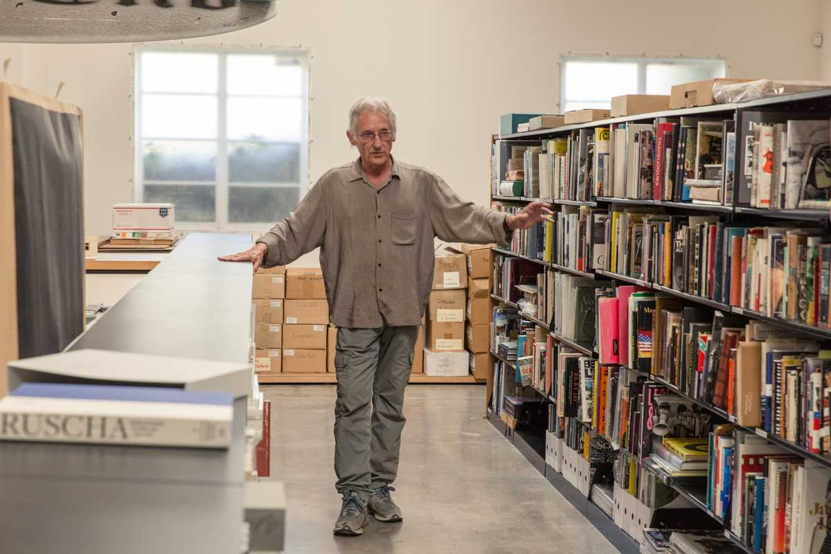 Ruscha in his library