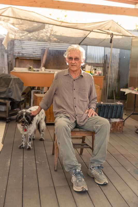 Ruscha with his dog
