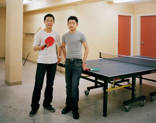 Students Shi Xian and Feng Wei from Hunan Province, China
