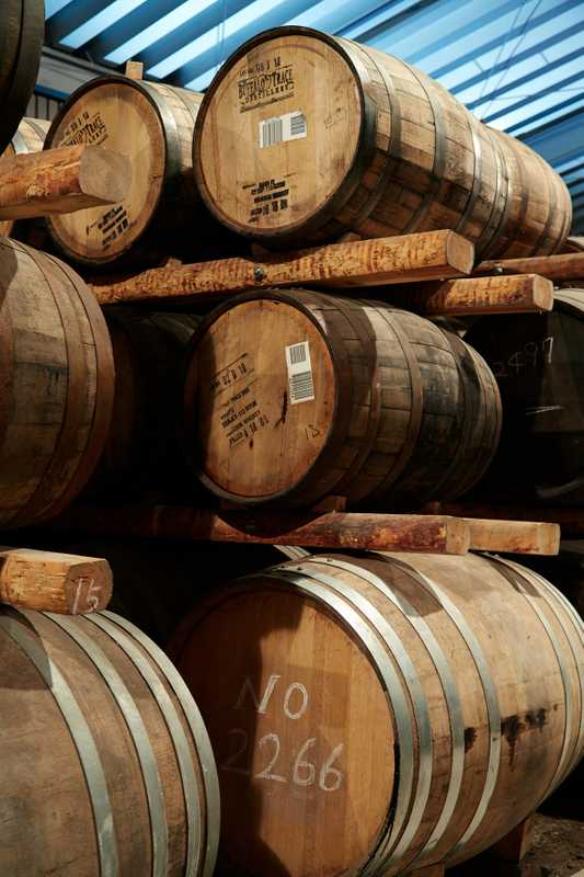 Chichibu Distillery's warehouse has 2,500 barrels, big and small