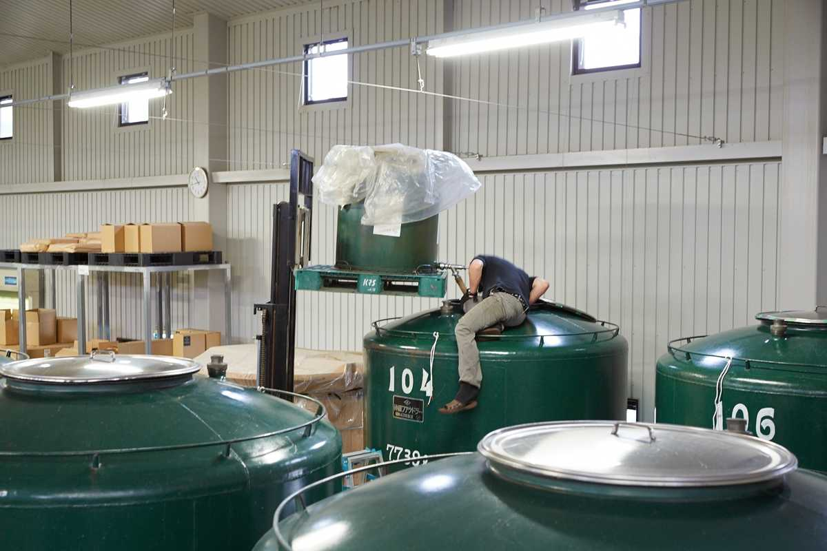 Large tanks used to blend whisky