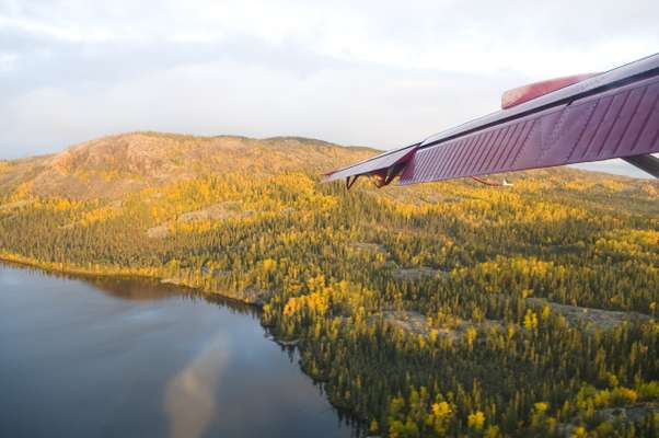 Flying to the mines over the NWT