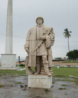 One of the Portguese men who 'discovered' São Tomé