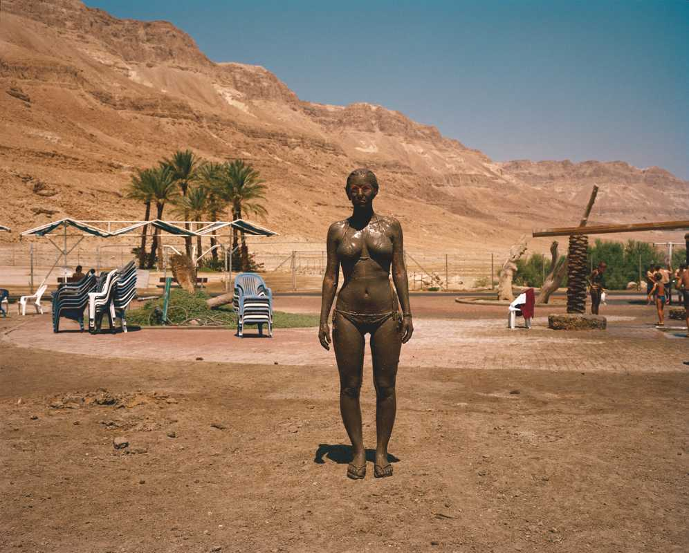 Woman at the Ein Gedi Spa close to the Israel-Jordan border