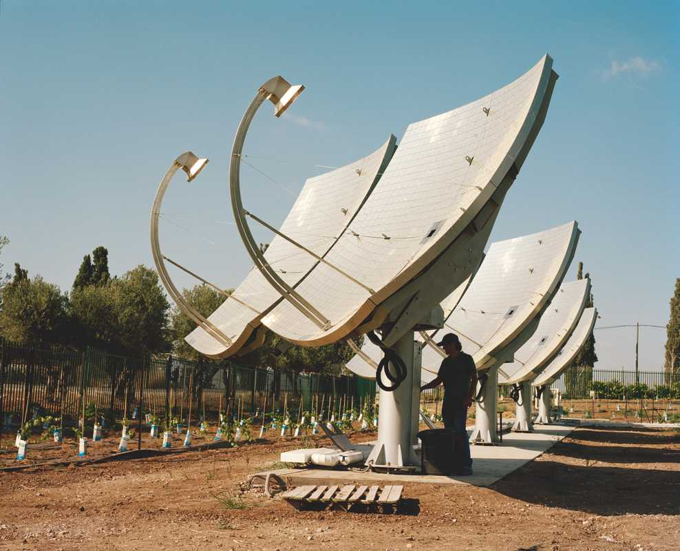 Solar panels at kibbutz Kvutzat Yavne, Gedera   Adar, 32, in Tel Aviv. He did military service at 18