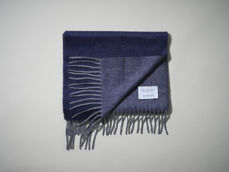 Begg & Co x Monocle Reversible cashmere scarf