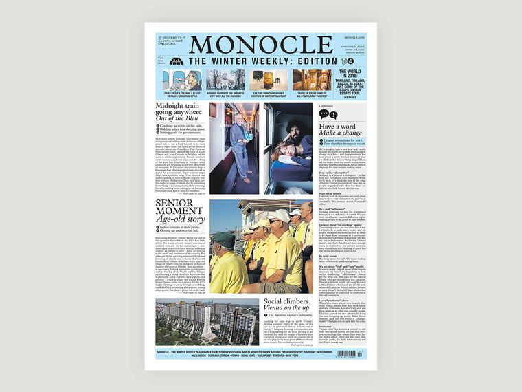 Monocle – The Winter Weekly: issue four
