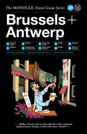 Book jacket image for the Brussels + Antwerp travel guide